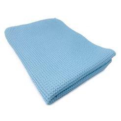 Microfibre waffle cloth blue